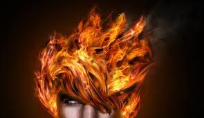 burning hair